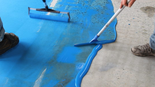 Cosmetic Surgery for Deteriorated Concrete Floors