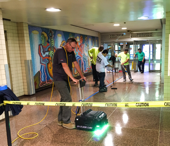 Terrazzo - During Application